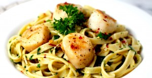 Fettucini with Scallops